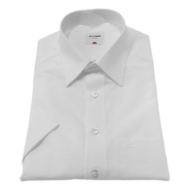Kent Collar Olymp Shirts White Short Sleeve Olymp Shirt £50.00