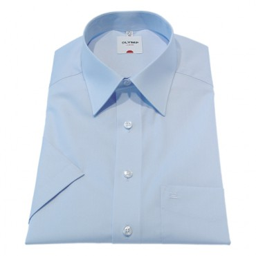 Kent Collar Olymp Shirts Light Blue Short Sleeve Olymp Shirt £50.00