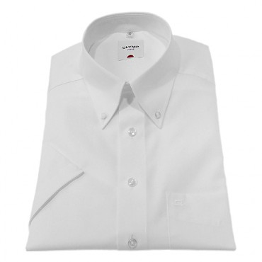 Button Down Collar Olymp Shirts White Short Sleeve Olymp Shirt £40.00