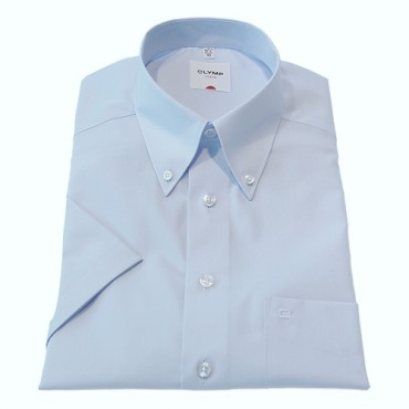 Button Down Collar Olymp Shirts Light Blue Short Sleeve Olymp Shirt £50.00