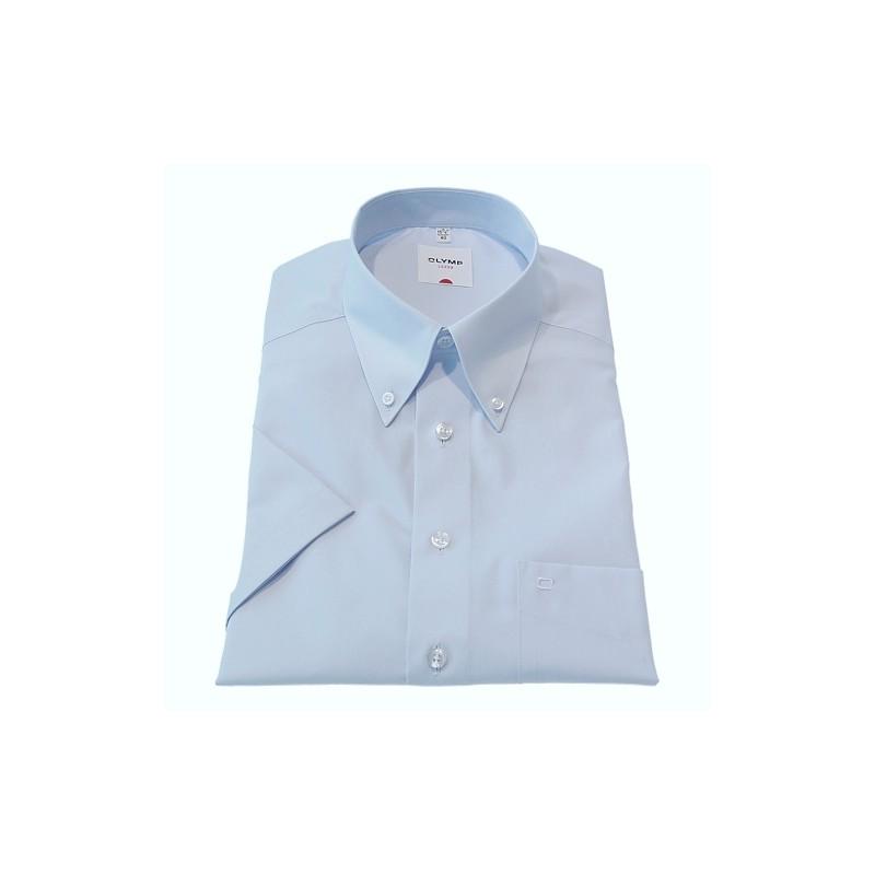 Button Down Collar Olymp Shirts Light Blue Short Sleeve Olymp Shirt £50.00