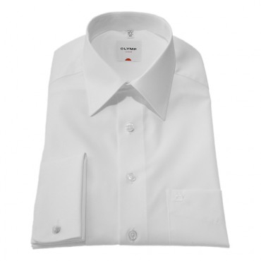 Olymp Shirts White Olymp Shirt Double cuffs Regular Collar Sleeve Length 25'' 1/4- 65cm £55.00