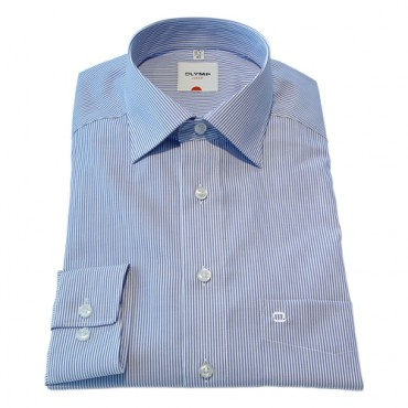 Patterned Olymp Shirts Fine Blue stripe Patterned Normal Sleeve Length 25''- 64cm Olymp Shirt £40.00