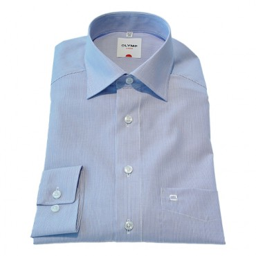 Patterned Olymp Shirts Narrow Blue stripe Patterned Normal Sleeve Length 25''- 64cm Olymp Shirt £40.00