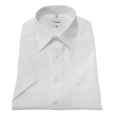 Short Sleeve Olymp Shirts White Short Sleeve Fil a Fil Olymp Shirt £50.00