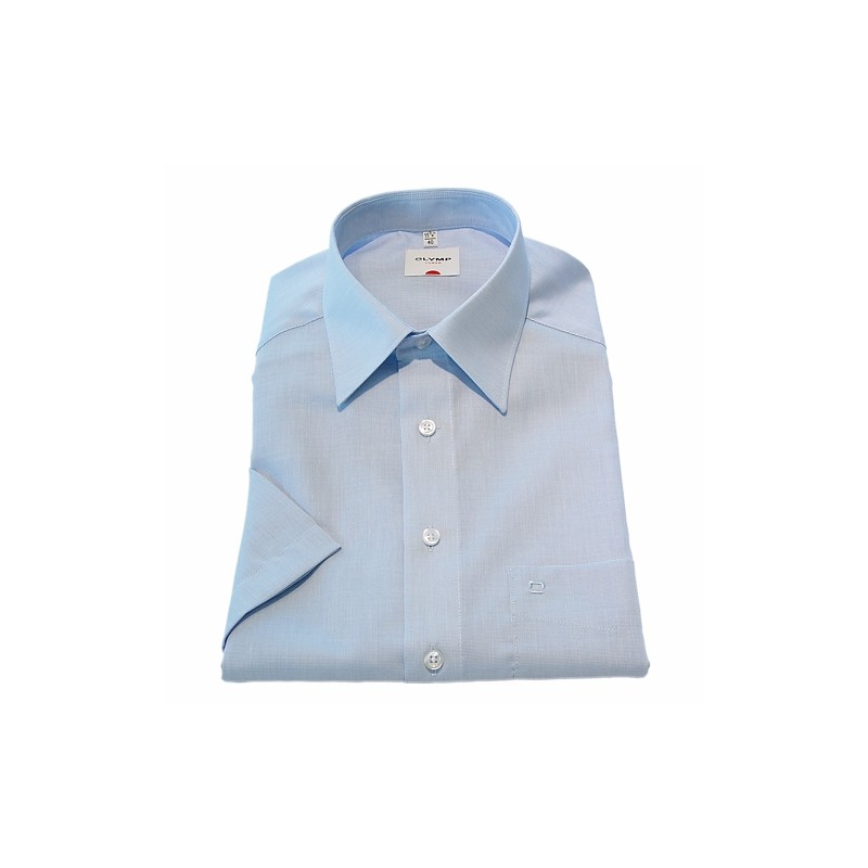 Short Sleeve Olymp Shirts Light Blue Short Sleeve Fil a Fil Olymp Shirt £50.00