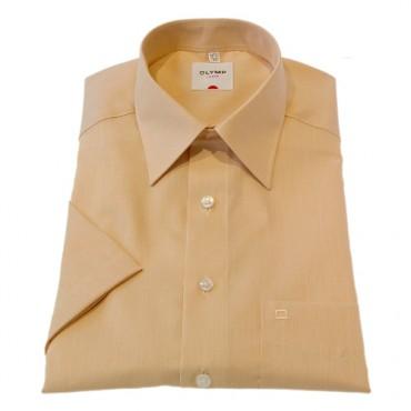 Short Sleeve Olymp Shirts Orange Short Sleeve Fil a Fil Olymp Shirt £40.00