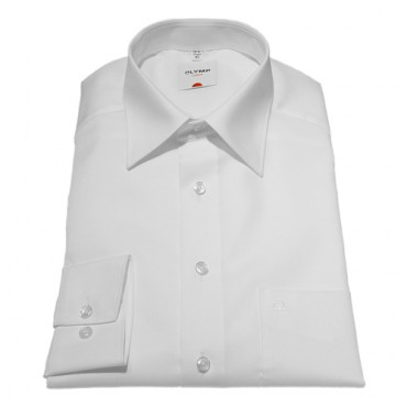 Sleeve Length 25''- 64cm Olymp Shirts Plain White Normal Sleeve Length 25''- 64cm Fil a Fil Olymp Shirt £45.00