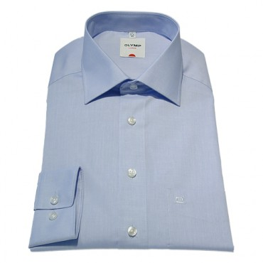 Long Sleeves Olymp Shirts Light Blue Chambray Extra Long Sleeve Length 27''- 69cm Olymp Shirt £45.00