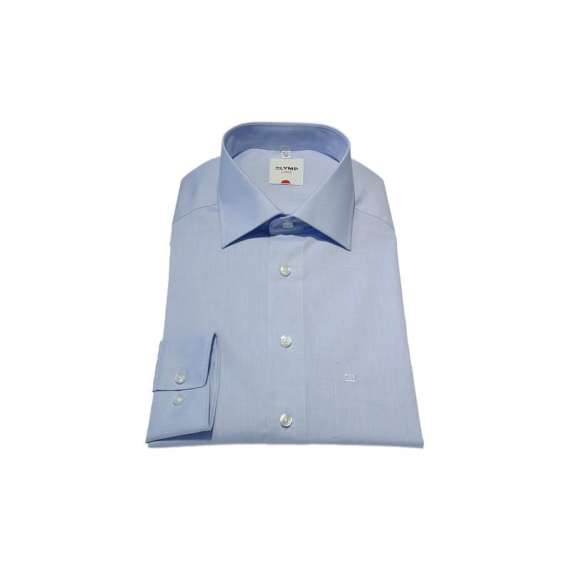 Long Sleeves Olymp Shirts Light Blue Chambray Extra Long Sleeve Length 27''- 69cm Olymp Shirt £45.00