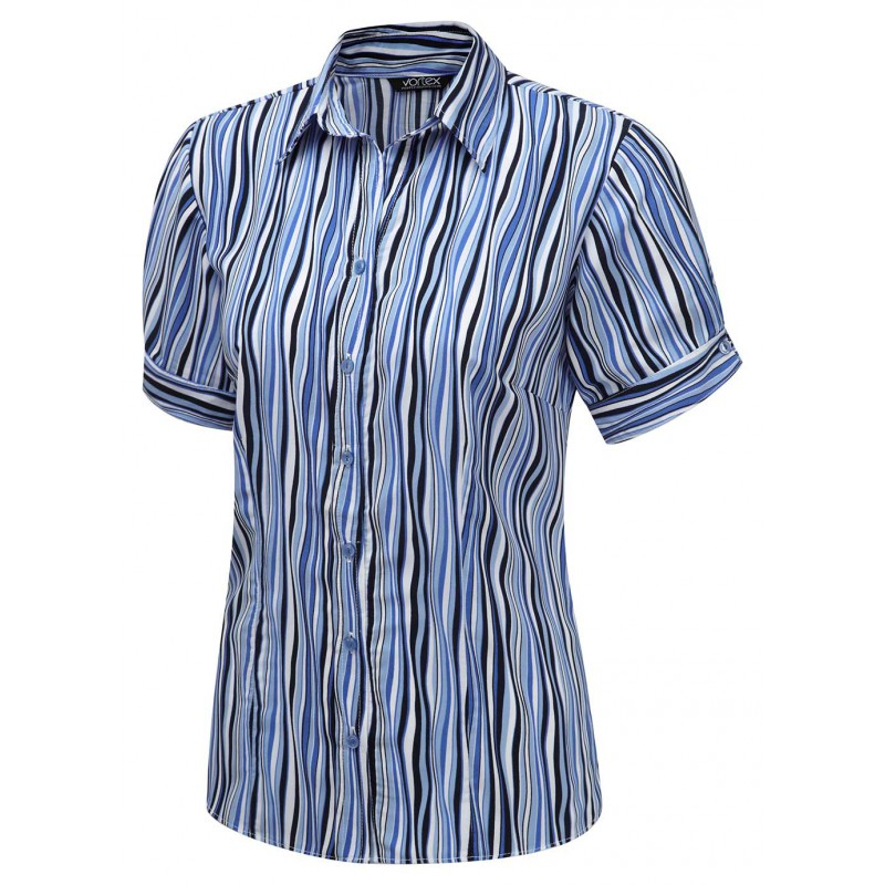 Blouses Vortex Designs Amelie Short Sleeve Blue £25.00