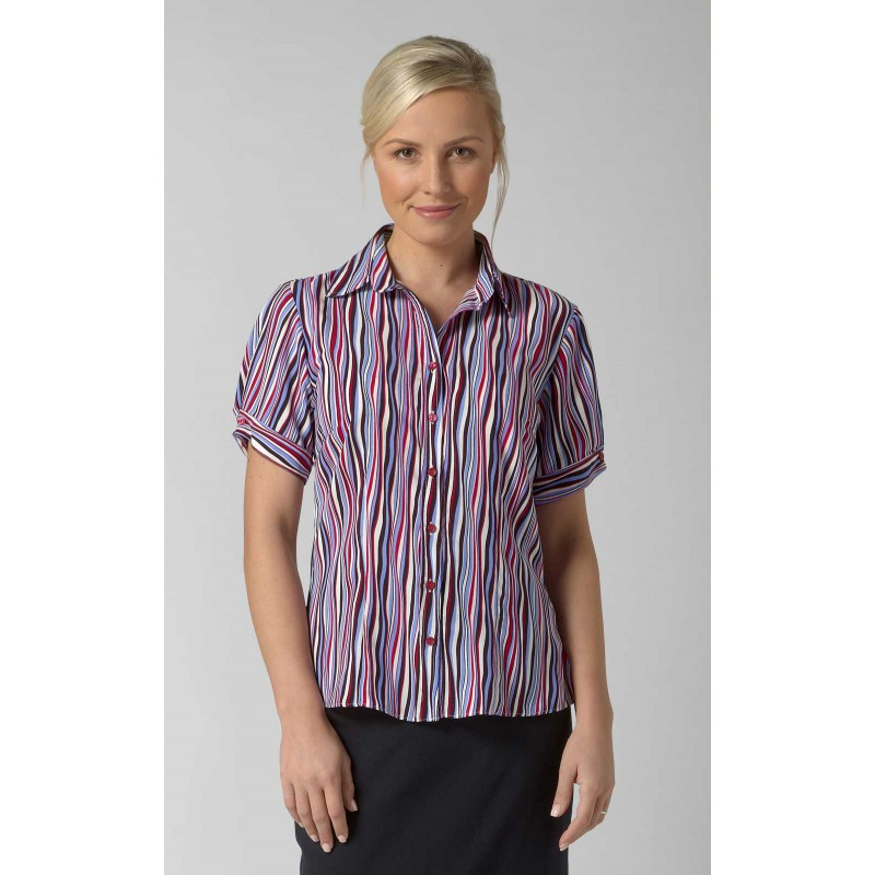 Blouses Vortex Designs Amelie Short Sleeve Berry £25.00