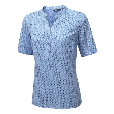 Blouses Vortex Designs Beth Short Sleeve Sky Blue £25.00