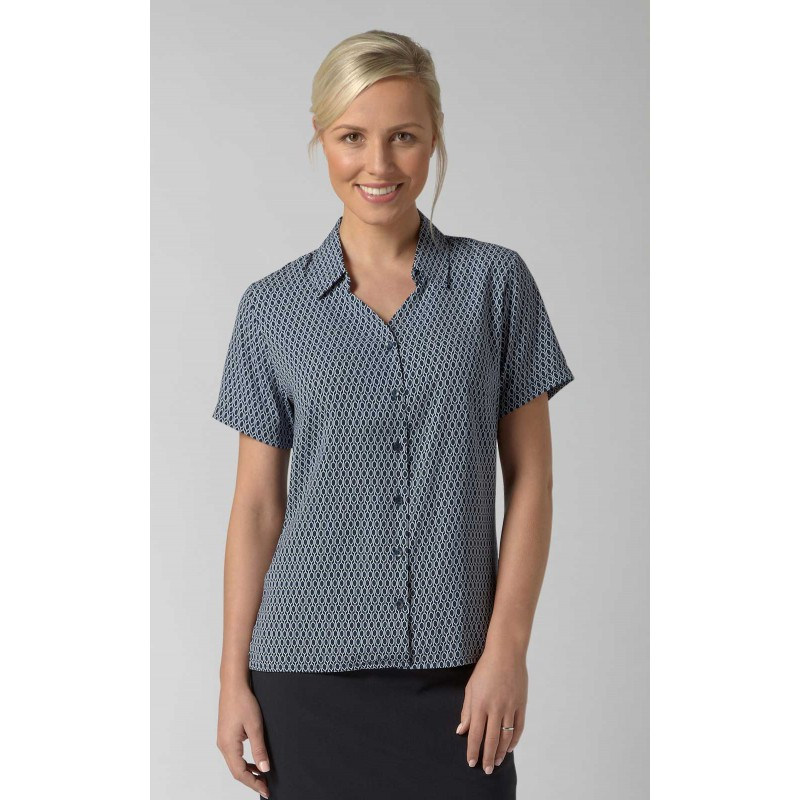 Blouses Vortex Designs Eloise Short Sleeve Navy £25.00