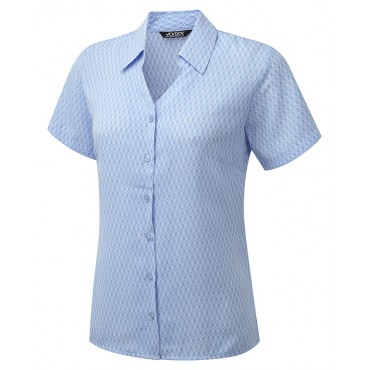 Blouses Vortex Designs Eloise Short Sleeve Sky Blue £25.00