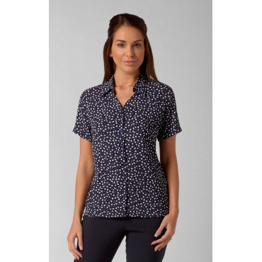 Blouses Vortex Designs Heidi Short Sleeve Navy £25.00