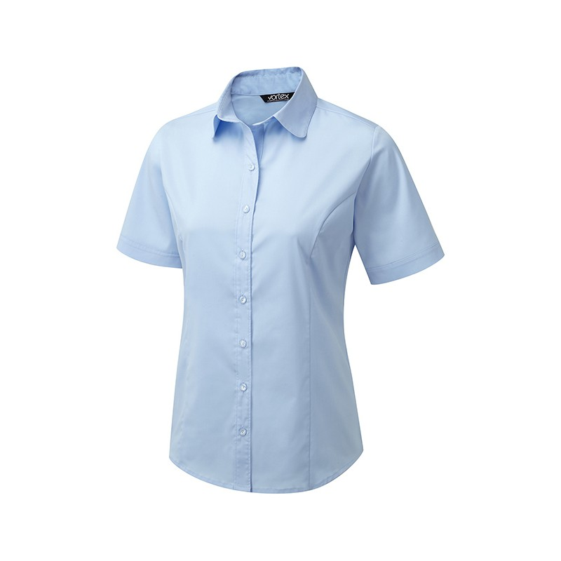 Blouses Vortex Designs Katy Short Sleeve Sky Blue £24.00