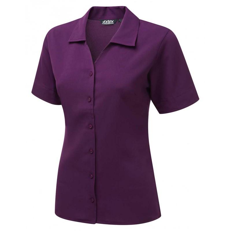 Knitwear Vortex Designs Lillie Short Sleeve Berry £22.00