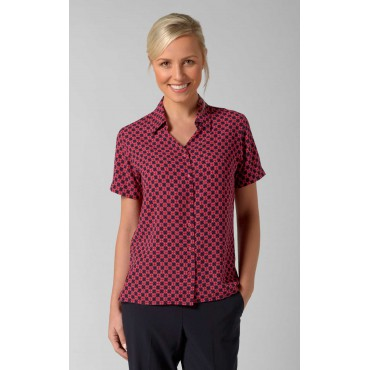 Blouses Vortex Designs Sarah Short Sleeve Red £25.00