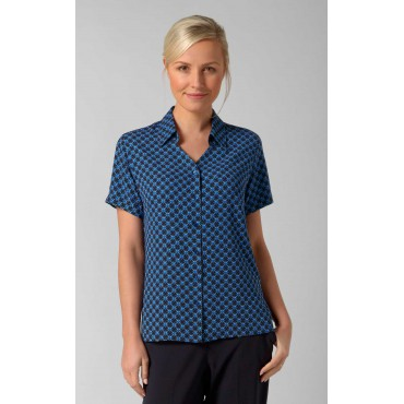 Blouses Vortex Designs Sarah Short Sleeve Navy £25.00