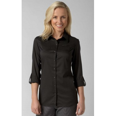 Blouses Vortex Designs Yasmin Roll Sleeve Black £13.00