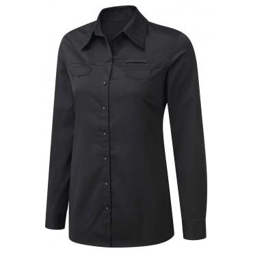 Blouses Vortex Designs Yasmin Roll Sleeve Black-VD-YASMIN3574 £13.00