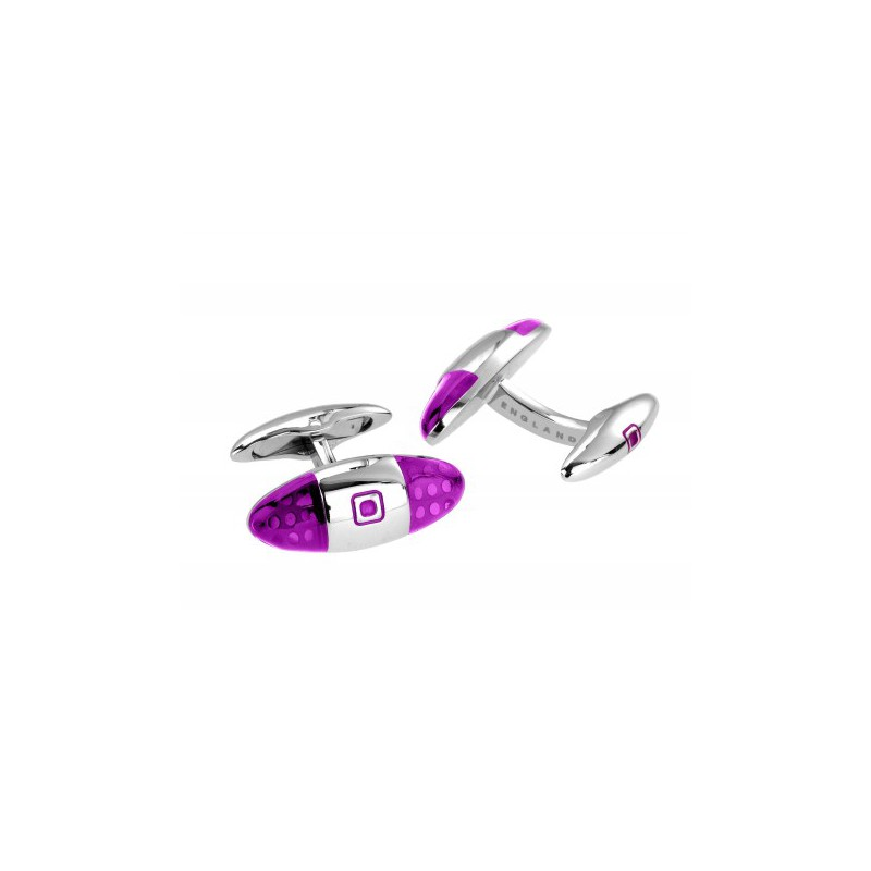 Contemporary Sonia Spencer Baguette Spotted Cufflinks Purple £45.00