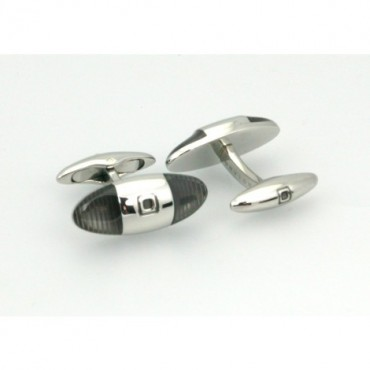 Others Sonia Spencer Baguette Striped Cufflinks Grey £45.00