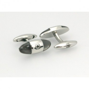 Contemporary Sonia Spencer Baguette Zigzag Cufflinks Grey £45.00