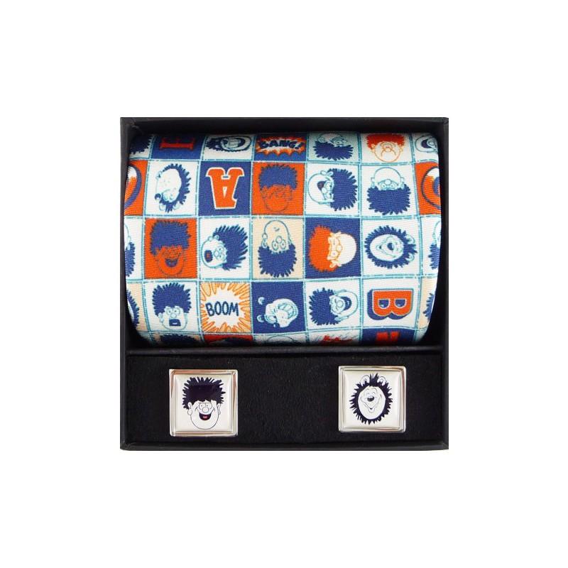 Tie and Cufflink Sets Sonia Spencer Beano Dennis & Gnasher Heads Tie & Cufflink Boxed Set £50.00