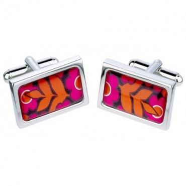 Chunky Dome Sonia Spencer Big Bold Flowers Pink Cufflinks £30.00