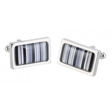 Chunky Dome Sonia Spencer Black Barcode Cufflinks £30.00