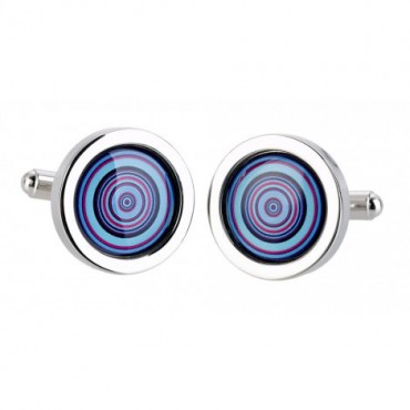 Chunky Dome Sonia Spencer Blue Bullseye Cufflinks £30.00