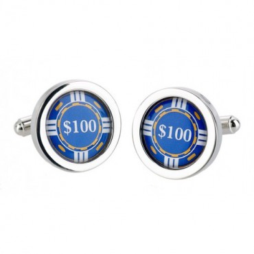 Chunky Dome Sonia Spencer Blue Chip Cufflinks £30.00