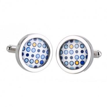 Contemporary Sonia Spencer Blue Circle Cufflinks £30.00