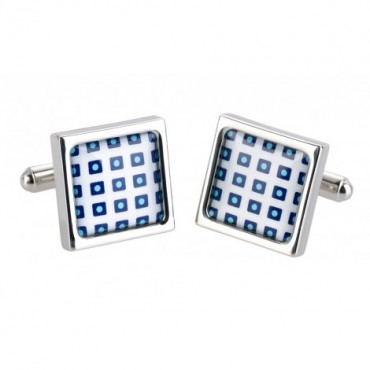 Contemporary Sonia Spencer Blue Cube Cufflinks £30.00
