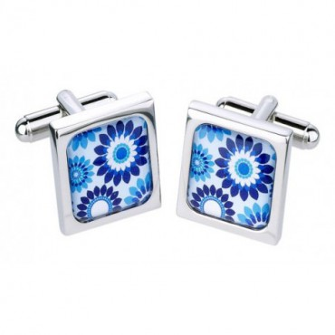 Contemporary Sonia Spencer Blue Flower Cufflinks £30.00
