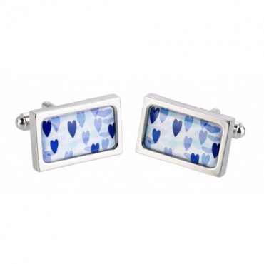 Contemporary Sonia Spencer Blue Hearts Cufflinks £30.00