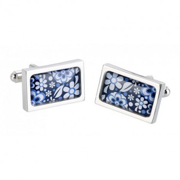 Contemporary Sonia Spencer Blue Meadow Cufflinks £30.00