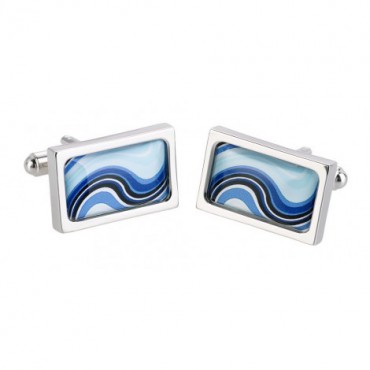 Chunky Dome Sonia Spencer Blue Ocean Cufflinks £30.00