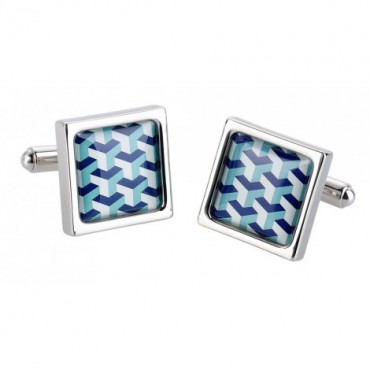 Contemporary Sonia Spencer Blue Pyramid Cufflinks £30.00