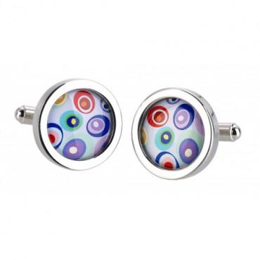 Contemporary Sonia Spencer Blue Swirl Cufflinks £30.00