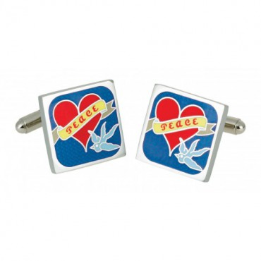 Contemporary Sonia Spencer Bluebird Tattoo Cufflinks £25.00