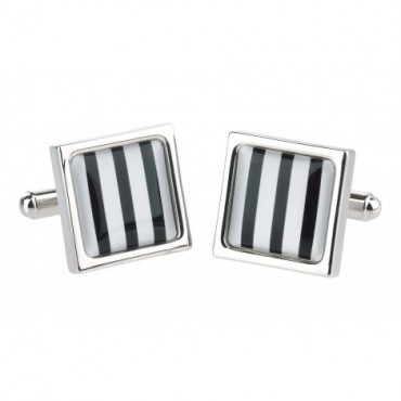 Chunky Dome Sonia Spencer Bold Stripe Square Cufflinks £30.00