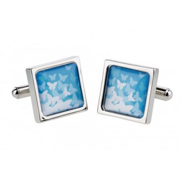 Contemporary Sonia Spencer Butterflies Blue Cufflinks £30.00