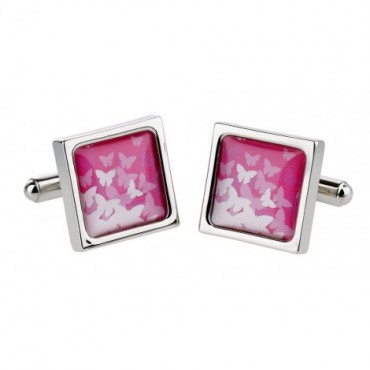 Contemporary Sonia Spencer Butterflies Pink Cufflinks £30.00