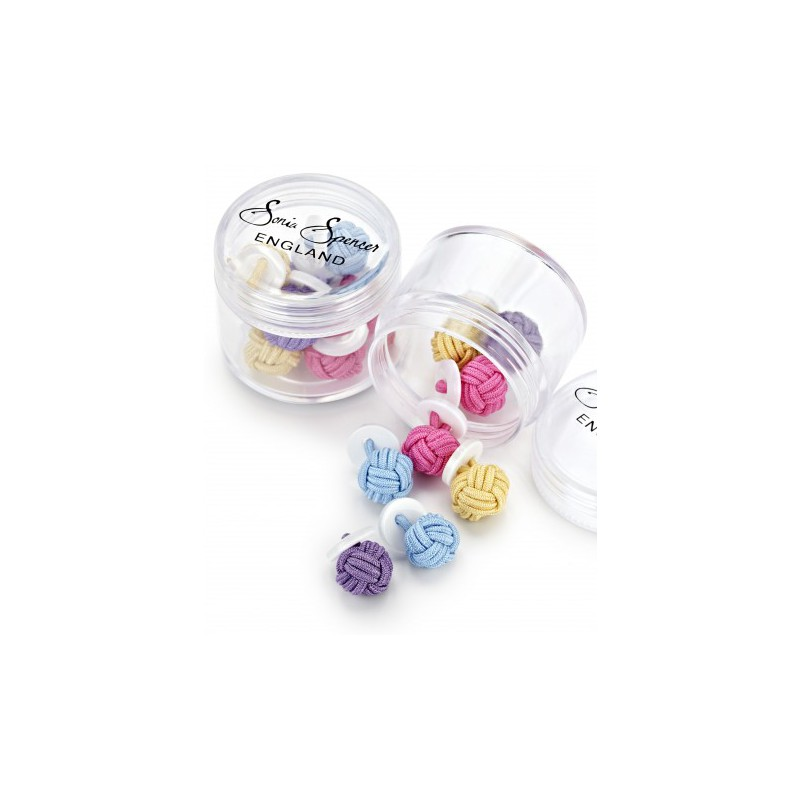 Knots Sonia Spencer Button Knot Cufflink Colour Pots Spring £15.00