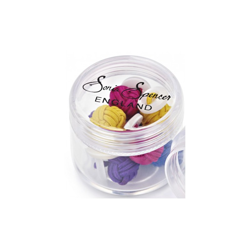Knots Sonia Spencer Button Knot Cufflink Colour Pots Summer £15.00