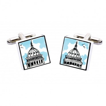 Bone China Hand Painted Sonia Spencer Capitol Building Cufflinks £20.00