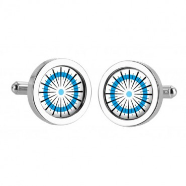 Chunky Dome Sonia Spencer Catherine Wheel Blue Cufflinks £30.00